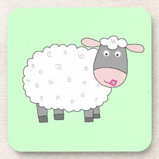 Daisy Sheep Beverage Coaster