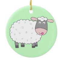 Daisy Sheep Ceramic Ornament
