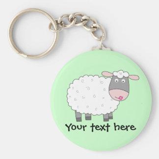 Daisy Sheep Key Chain