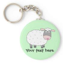 Daisy Sheep Keychain