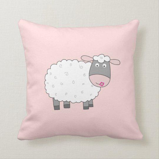 Daisy Sheep Throw Pillow