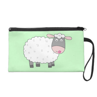 Daisy Sheep Wristlet Purse