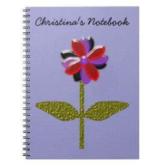 Daisy Shining Plastic Customizable Notebook