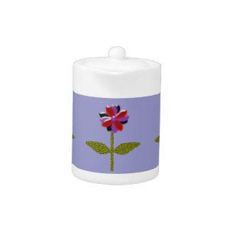 Daisy Shining Plastic Teapot