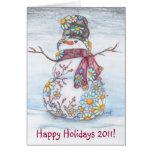 Daisy Snowman 2011 Greeting Card
