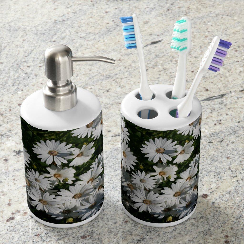 Daisy Soap Dispenser & Toothbrush Holder