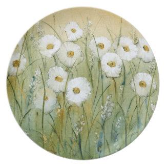 Daisy Spring I Melamine Plate