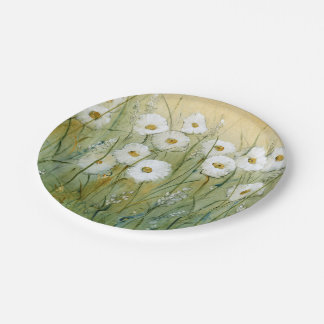 Daisy Spring I Paper Plate