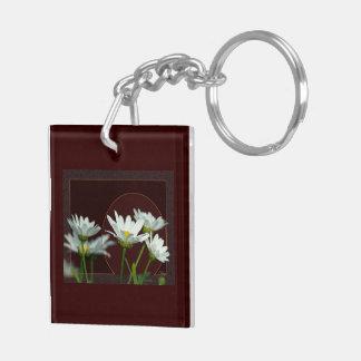 Daisy Square Acrylic Key Chains