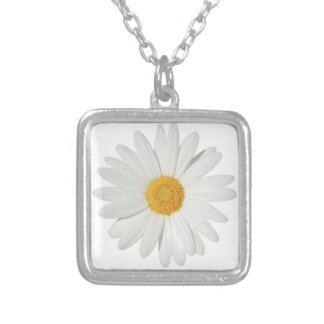 Daisy Square Pendant Necklace