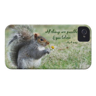 Daisy Squirrel Mark 9:23 iPhone 4 Barely ThereCase Case-Mate iPhone 4 Cases