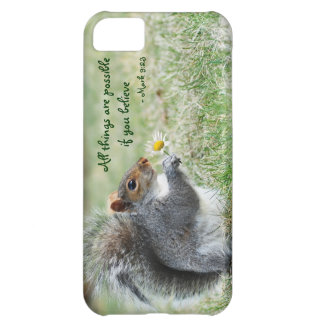 Daisy Squirrel Mark 9:23 iPhone 5 Barely ThereCase iPhone 5C Cases