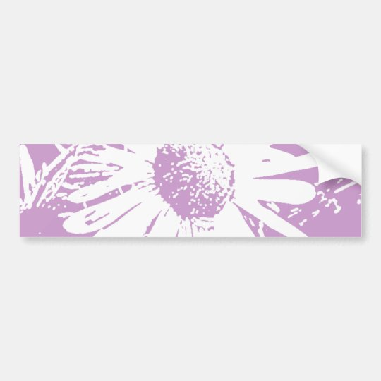 Daisy Stamp Design Bumper Sticker