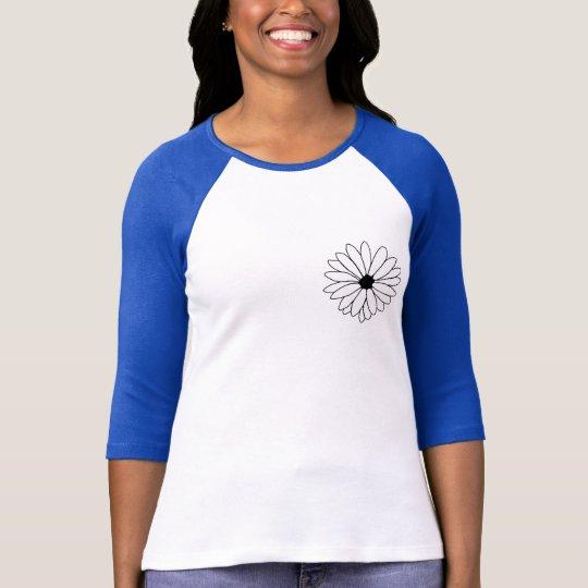 Daisy Storm 3/4 Sleeve Raglan T-Shirt
