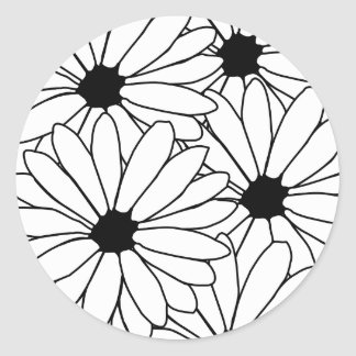 Daisy Storm Pattern Sticker