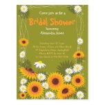 Daisy Sunflower Bridal Shower Party Invitation 2 Postcard