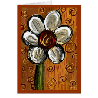 Daisy & Swirlies - notecard