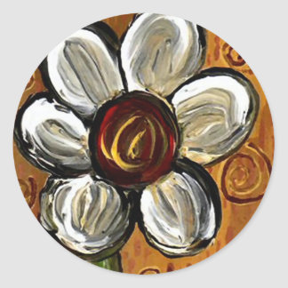 Daisy & Swirls - sticker