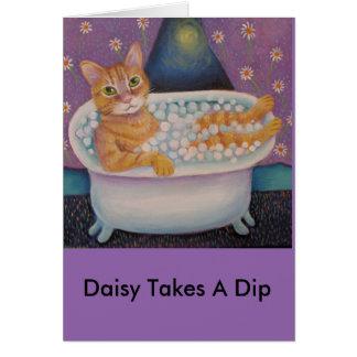Daisy Taks A Dip Card