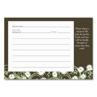 Daisy Tea Party Recipe Card