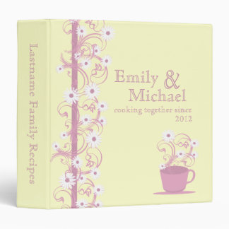 Daisy Tea Party Recipe Collection 3 Ring Binder