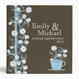 Daisy Tea Party Recipe Collection Vinyl Binder
