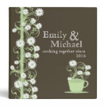Daisy Tea Party Recipe Collection Brown and Green 3 Ring Binder