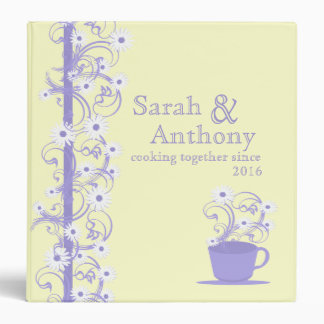 Daisy Tea Party Recipe Collection Yellow and Purpl Binder