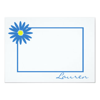Daisy Thank You Blue Note Card