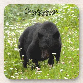 Daisy The Black Bear; Customizable Beverage Coaster
