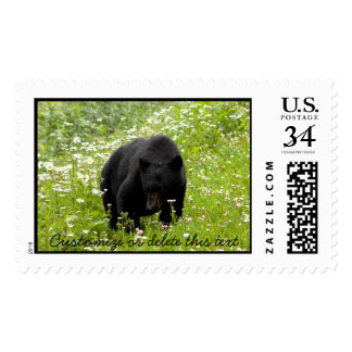 Daisy The Black Bear; Customizable Stamp