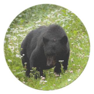 Daisy The Black Bear; No Text Dinner Plate