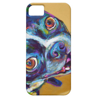 Daisy the Boston Terrier by Robert Phelps iPhone SE/5/5s Case