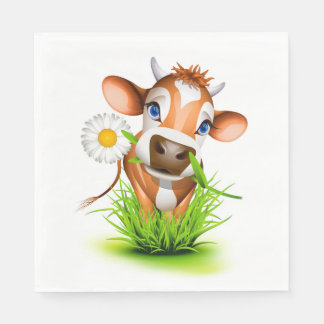 Daisy The Cow Luncheon Paper Napkins