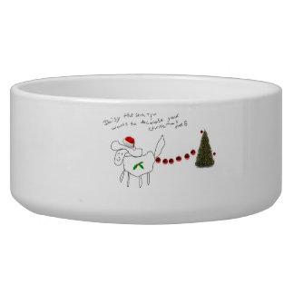 daisy the Shih tzu christmas dog bowl!! Bowl