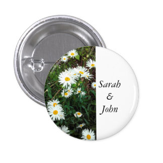 Daisy theme wedding buttons/Pins Button