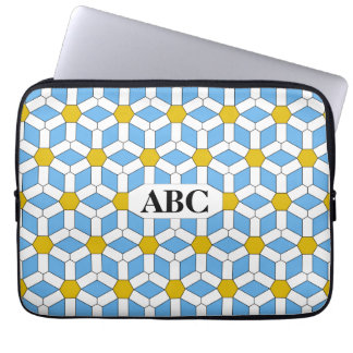 Daisy Tiled Hex Laptop Sleeve