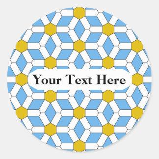 Daisy Tiled Hex Sticker