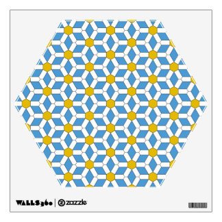 Daisy Tiled Hex Wall Decal