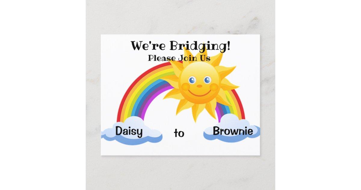 Daisy To Brownie Bridging Ceremony Postcard Invite Zazzle Com Udah nyobain brownies bakar desashi belum? daisy to brownie bridging ceremony postcard invite zazzle com