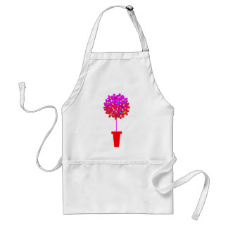 Daisy Topiary in Pinks Adult Apron