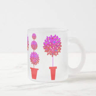 Daisy Topiary in Pinks Coffee Mugs