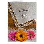 Daisy Trio and Lace Country Bridesmaid Thank You Cards