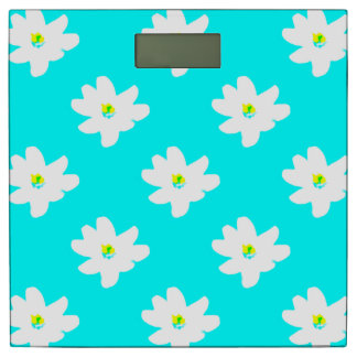 Daisy Turquoise Menagerie Susie's Fave Bathroom Scale