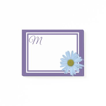Beach Themed Daisy Ultra Violet Purple Your Monogram Or Name Post-it Notes