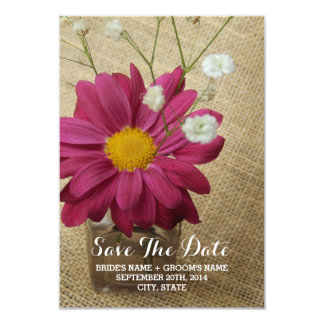 Daisy + Vintage Apothecary Bottle Save The Date Card