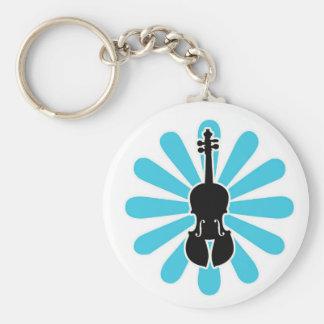 Daisy Violin Keychain