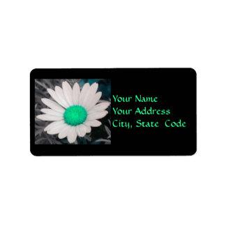 Daisy (w/Green) Address Labels
