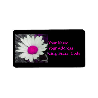 Daisy (w/Pink) Address Labels