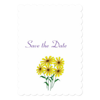 Daisy Wedding Day Theme Save the Date Card